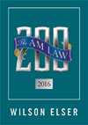2016 AmLaw 200: Wilson Elser ranks 105